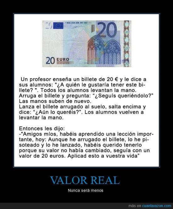 20,alumnos,billete,euros,pisar,profesor,superar,valor,vida