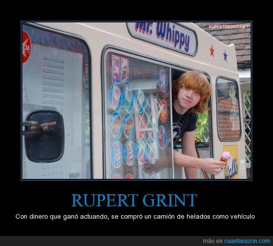 camión de helados,furgoneta,infancia,los regala a los niños,ruper grint,sueño,vehículo