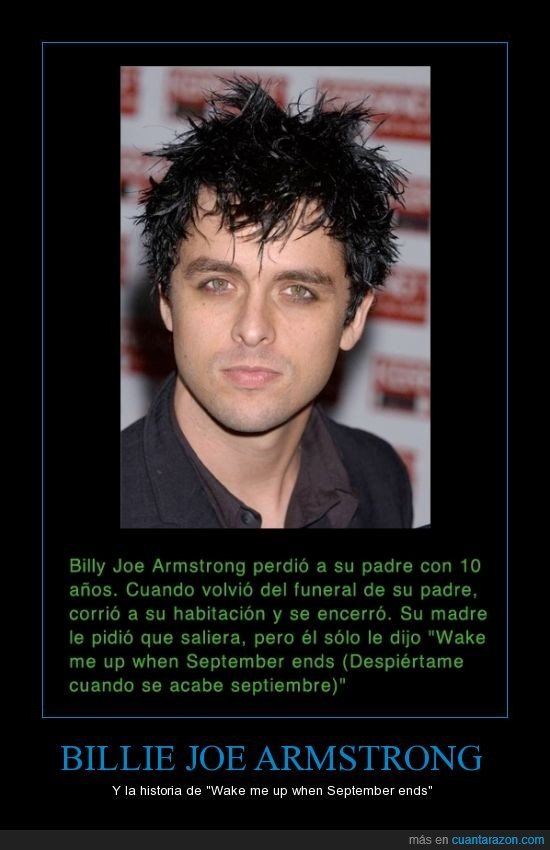 Billie joe,etc,green day,historia de la cancion,wake me up when september ends
