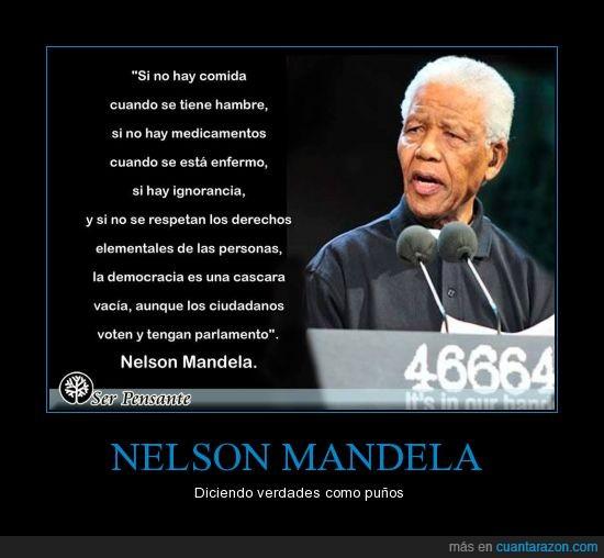 ciudadano,democracia,hambre,ignorancia,nelson mandela,pueblo