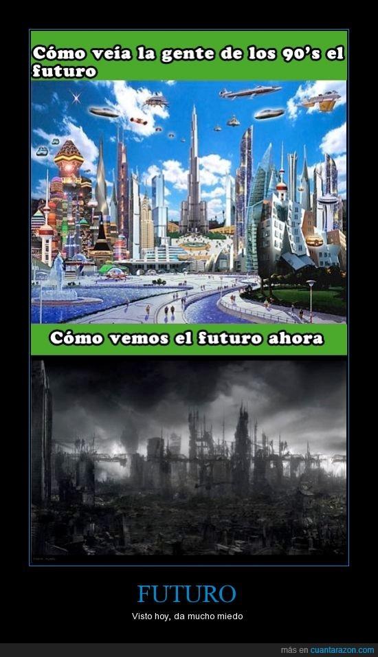 90's,algo perturbador,años 90,apocalipsis,contaminacion,destruccion,furturo,hoy