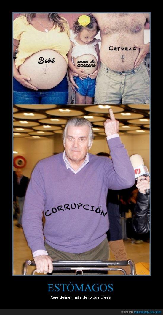 barcenas,barriga,bebe,cerveza,corrupto,embarazada,gordo,madre
