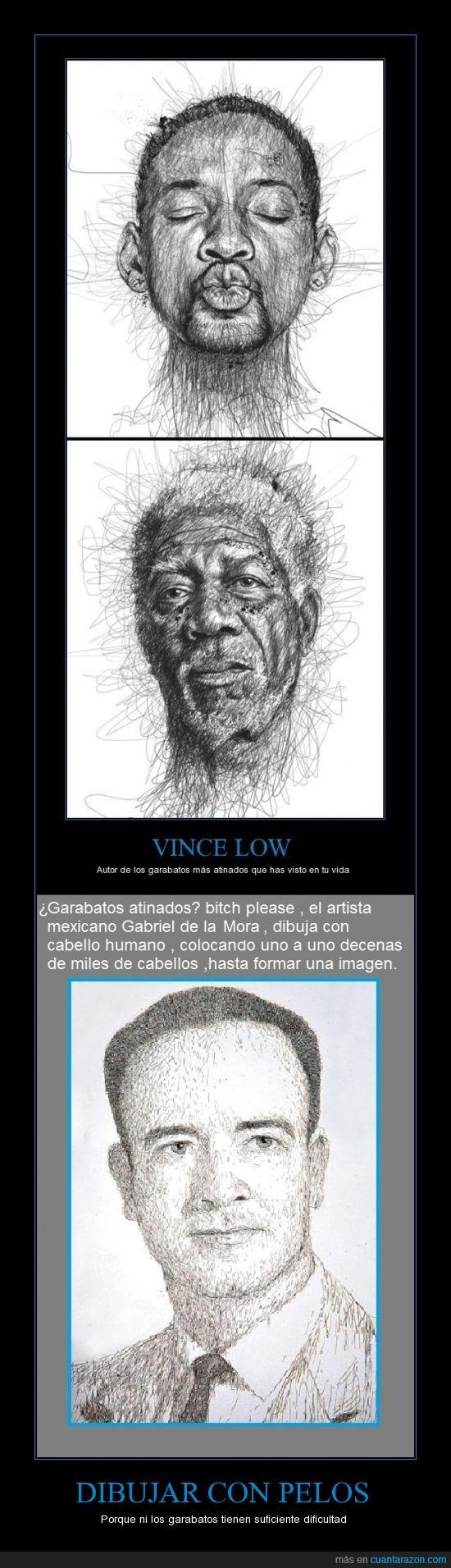 artista,cabello,dibujar,Gabriel de la mora,imagen,mexico,pelo,Vince Low