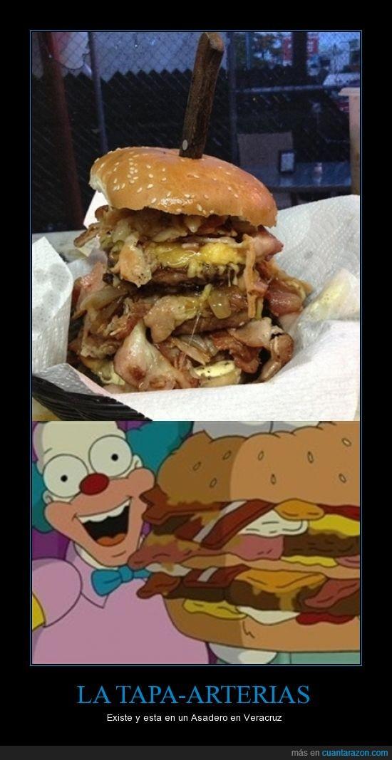 colesterol,gorda,hamburguesa,krusty,payaso,simpson