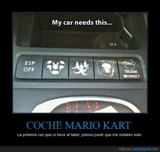 boton,coche,kart,mario,platano,seta