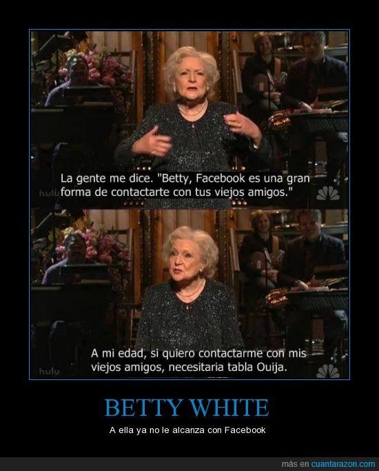 actriz,anciana,Betty White,Facebook,mayor,muerte,Ouija