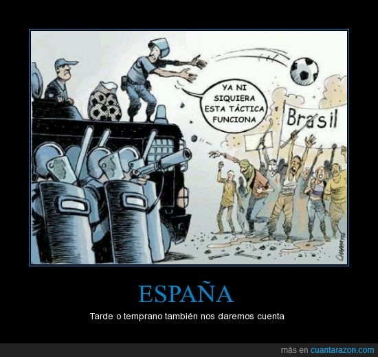 brasil,españa,futbol,manifestacion,pelota,politica,revolucion