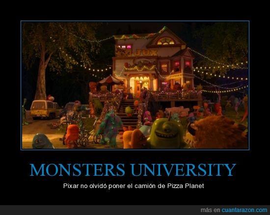 camion,Camión de Pizza Planet,monsters university,todas las peliculas