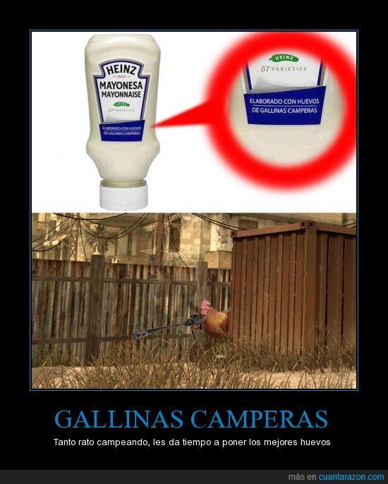 Call Of Duty,Campers,Gallinas,Gamer,Heinz,Huevos,Mayonesa
