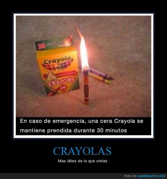 crayola,crayon,emergencia,encendido,minutos,prender