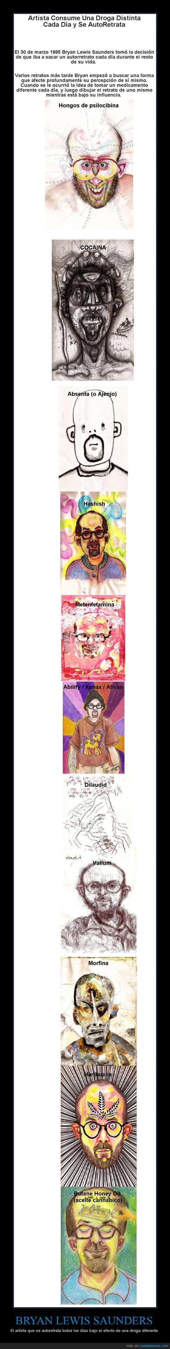 artistas,autoretrato,droga,efectos.,increible,pintura