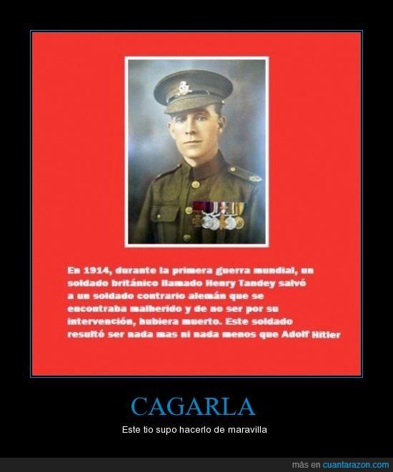 adolf hitler,cagarla,henry tandey,salvar,soldado