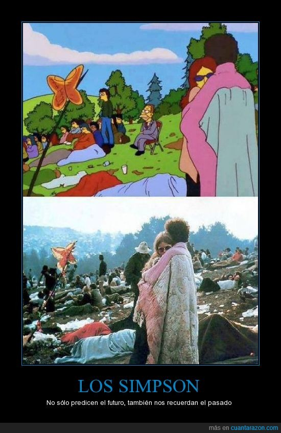 amor,hippies,los simpson,mariposa,pasado,woodstock