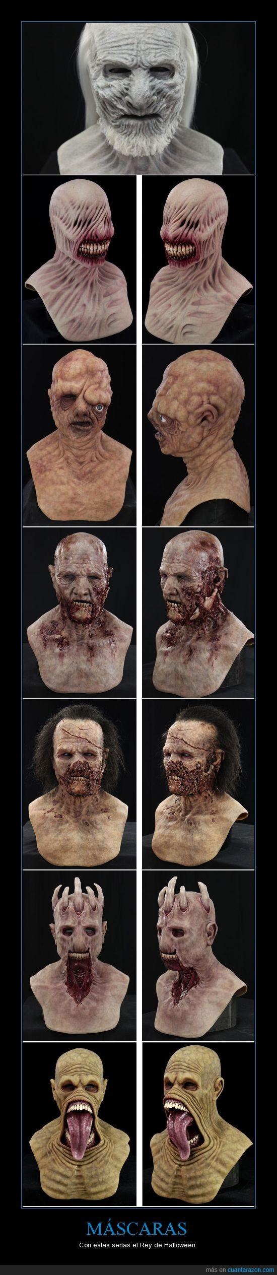 asombrosos diseños,Halloween te invoco YA!,mascaras,otro,reales,white walker,zombie
