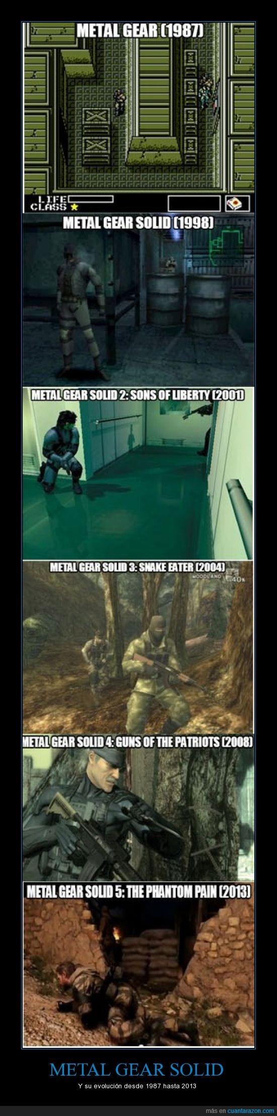 evolución,graficos,juegazo,Metal Gear,Metal Gear Solid