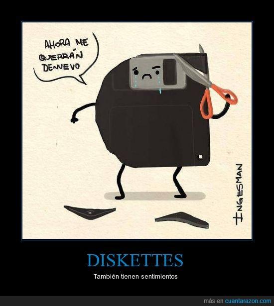 CD,cortar,disco,floppy,olvidado,punta