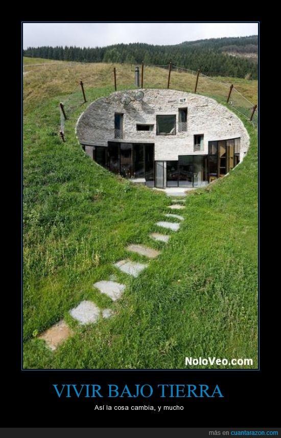 casa,hobbit del siglo XXI,lujo,tierra,topo con suerte,vivir
