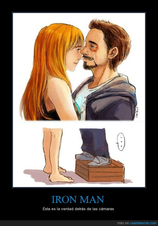 alta,bajito,caja,cajon,Iron Man,nivel,Pepper Potts,Tony