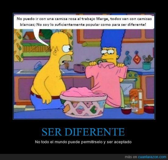 diferente,Indirecta,los simpsons,marge,popular,programa,rosa,sociedad,the simpson