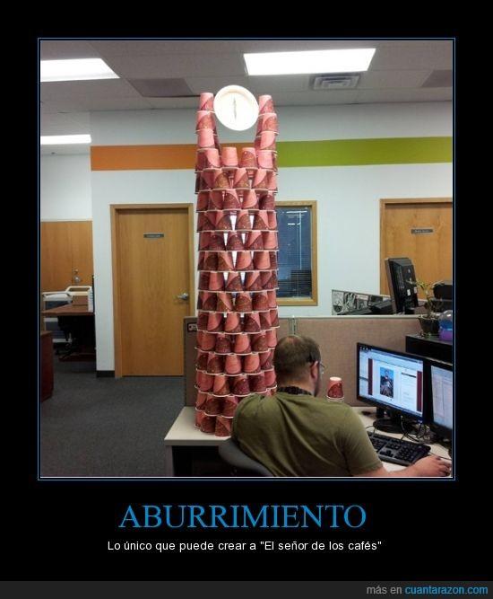 aburrimiento,café,El señor de los anillos,Mordor,oficina,ojo,Sauron,talento