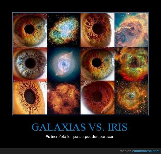 galaxias,humanos,increíble,ojos,parecido