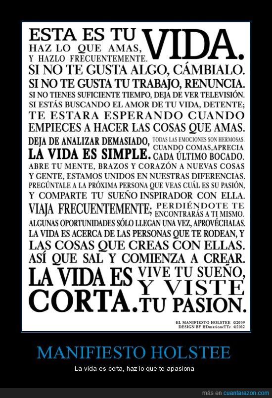inspiración,manifiesto holstee,pasión,positivo,vida