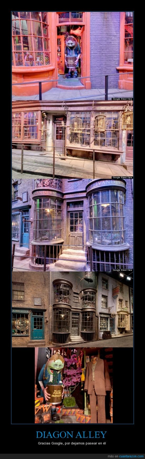 callejon diagon,google street view,harry potter