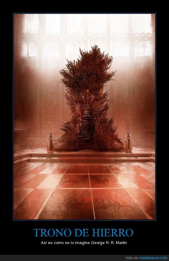 George R.R. Martin,imaginación,juego de tronos,trono de hierro