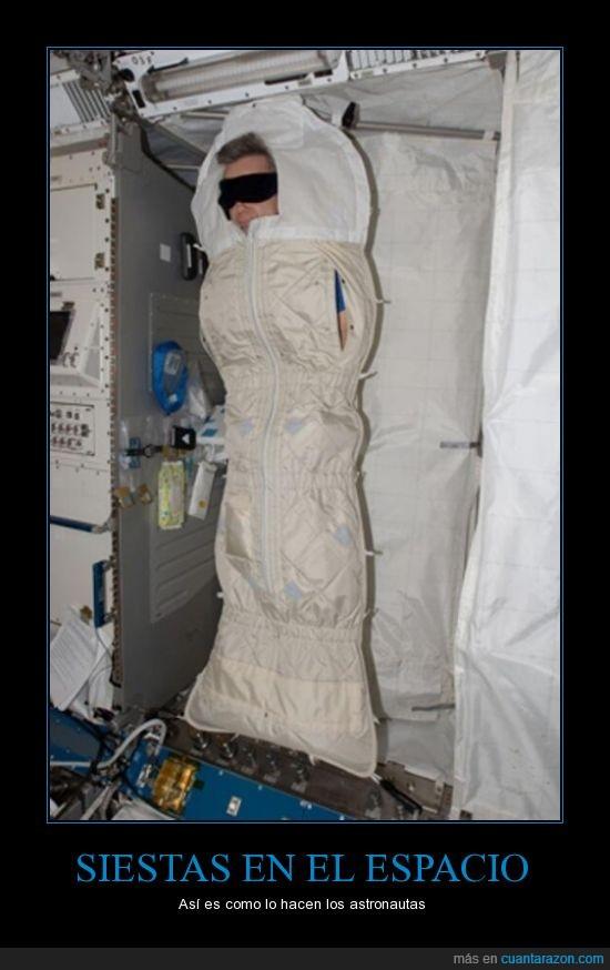 cama,dormir,espacio,gravedad,nave,siesta