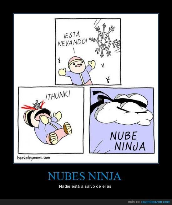 atacar,copo,estrella ninja,nieve,ninja,niño,nube,shuriken