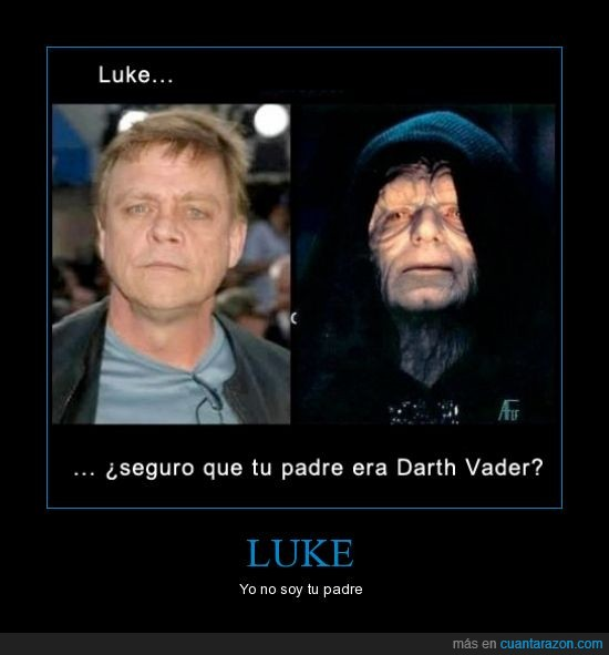 darth vader no era el padre,emperador palpatine,luke skywalker,padme era una fresca,senador,star wars