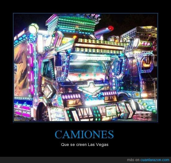 Camión,Las vegas,Luces