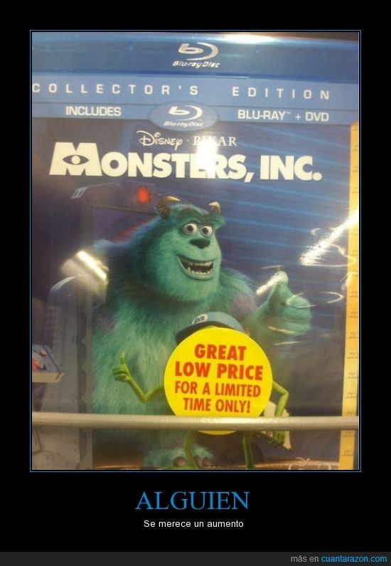 blue ray,mike,monsters inc,rebaja,sulley