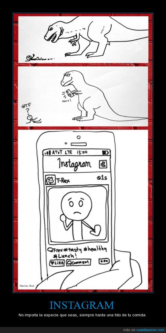 apple,comida,dinosaurio,hipster,instagram,iphone 5,persona,presa,t-rex