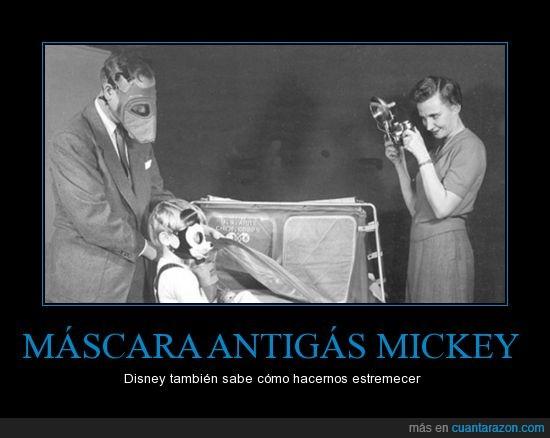 antigas,estremecedor,máscara,mickey mouse,miedo,perturbador