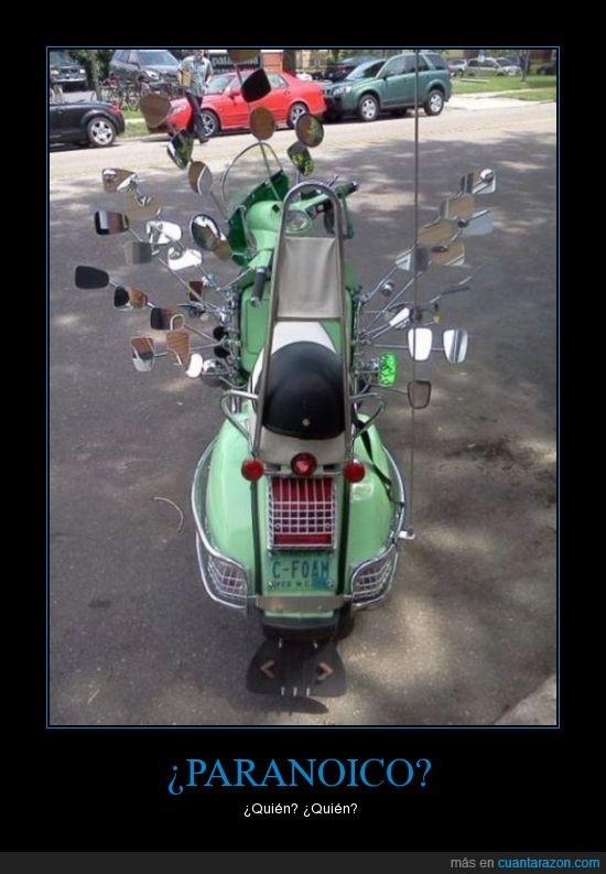 Espejos,moto,Motocicleta,paranoico,retrovisores,vespa
