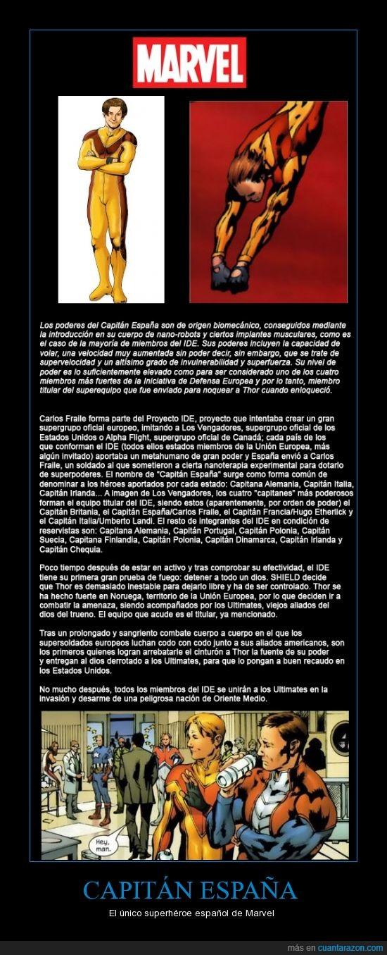 Capitán España,Cómics,Marvel,Superhéroe