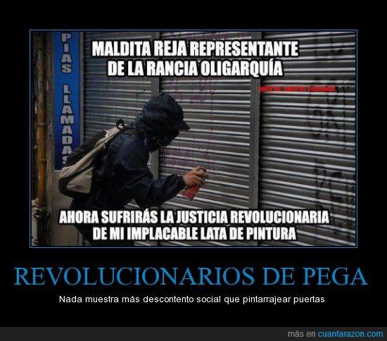 capitalismo,pintar,reja,revolucion,spray