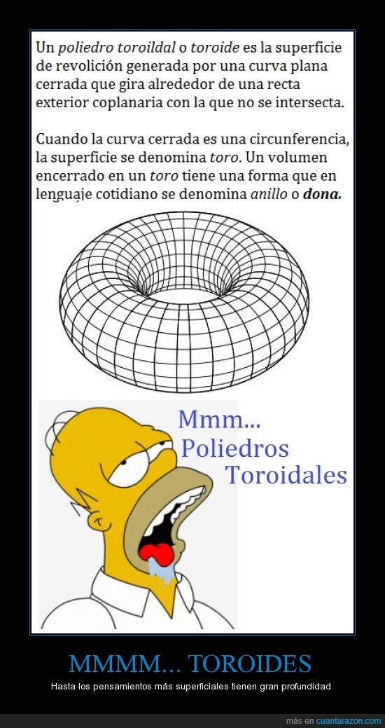 descripción gráfica,homer simpson,homero,poliedros toroidales,toroides
