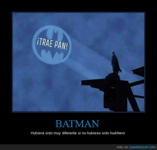 batman,llamada,luz,traer pan