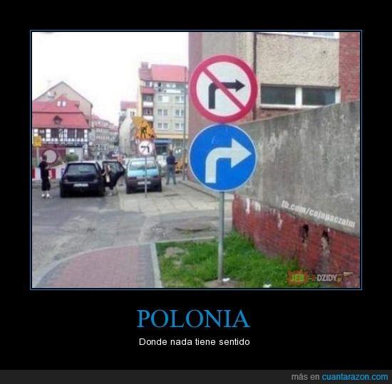 estupido,polonia,señal,trafico