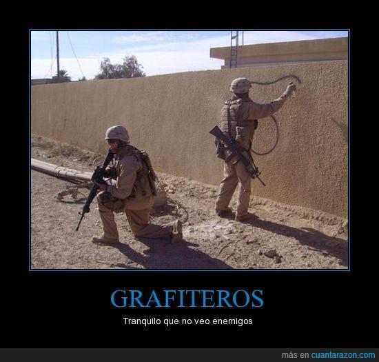Grafiteros,Iraq,Soldados
