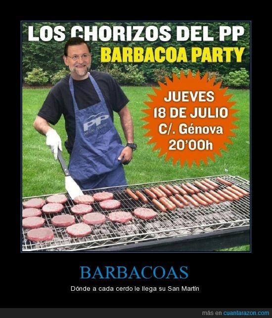 barbacoas,cerdo,chorizo,corrupción,dimisión,españa,génova,muerte,papeles barcenas,política,pp,san martín