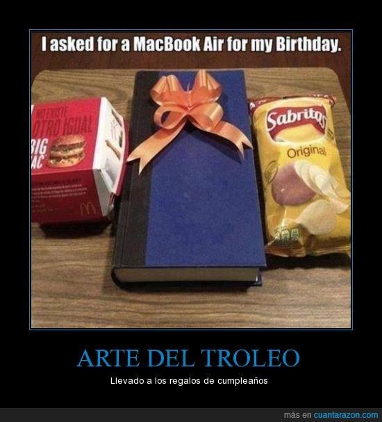 air,aire,book,Lays,Lee un libro quieres,libro,mac,macbook air,Padres,Troll