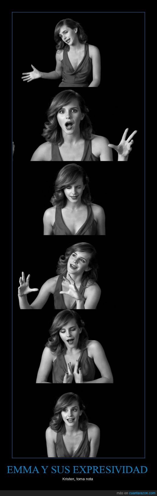 Crepúsuculo,Emma Watson,expresiones faciales,Harry Potter,Kristen Stewart,nota
