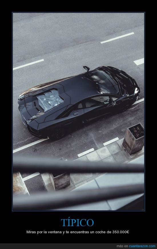 acera,lamborghini aventador,negro,pista,ventana