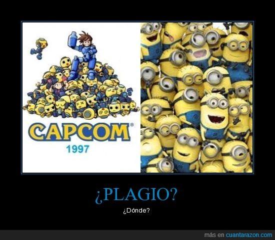Capcom,Copia,Disney,Megaman,Minion,Pirateria,Plagio,Servbot