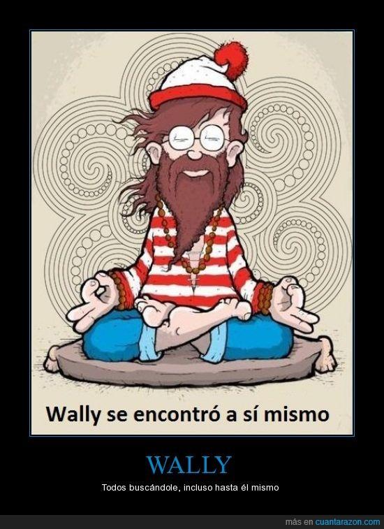 budismo,donde está wally,wally