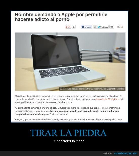 adicto,Apple,demanda,forever alone