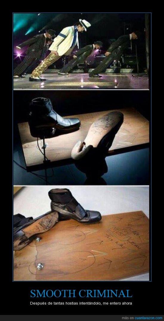 Michael Jackson,Paso imposible,smooth criminal,truco,zapatos